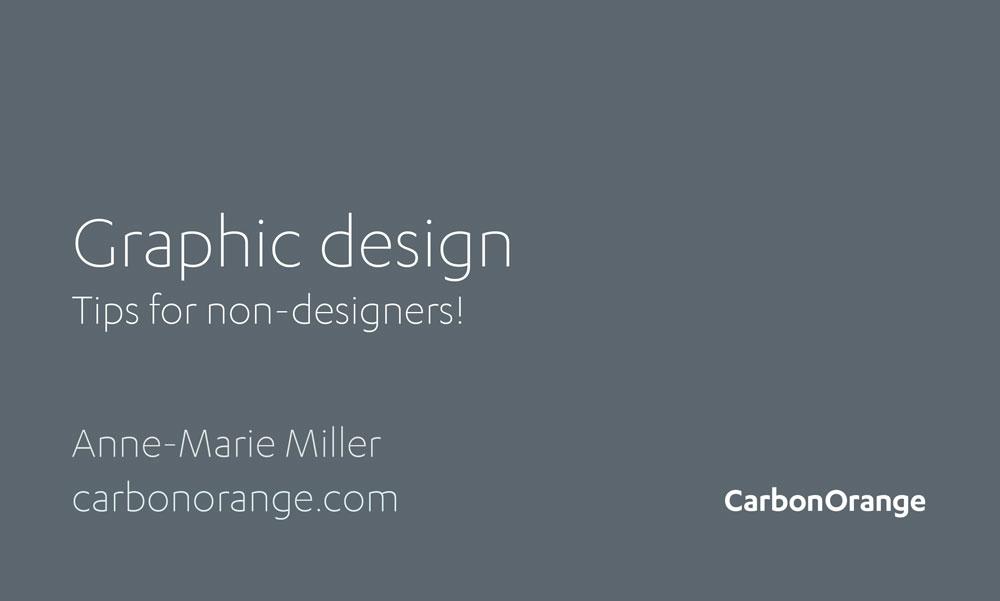 Graphic Design Presentation Cover